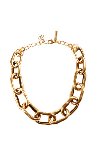 Russian Gold Necklace by OSCAR DE LA RENTA Now Available on Moda Operandi