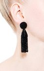 Short Tassel Earring by OSCAR DE LA RENTA Now Available on Moda Operandi