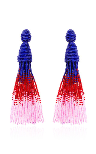Medium oscar de la renta purple ombre tassel earring