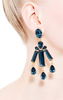 Rectangular Stone Earrings by OSCAR DE LA RENTA Now Available on Moda Operandi