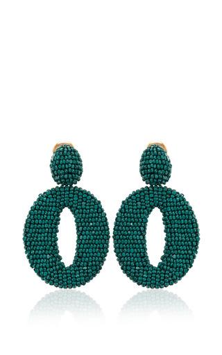 Medium oscar de la renta green oscar o earring