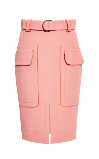 Medium derek lam 10 crosby pink carnation belted patch pocket skirt