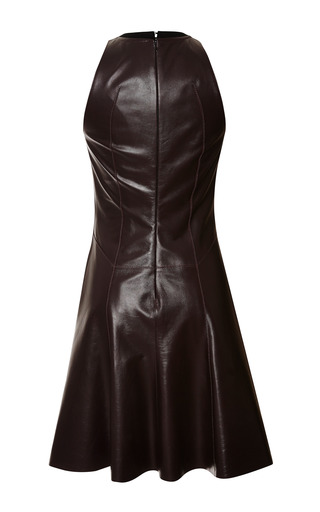 Aubergine Leather Fit And Flare Dress by DEREK LAM 10 CROSBY for Preorder on Moda Operandi
