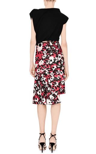 Floral Print Asymmetric Hem Skirt by MARNI Now Available on Moda Operandi