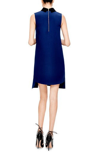 Contrast Collar Crepe Dress by MARNI Now Available on Moda Operandi