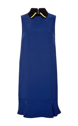 Medium marni blue sleeveless dress with a collar