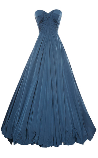 Medium zac posen blue taffeta gown 2