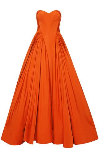 Medium zac posen orange taffeta gown