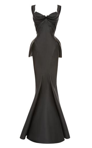 Medium zac posen black mikado duchess gown