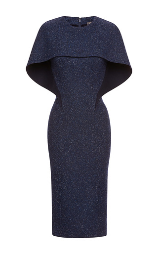 Medium zac posen black tweed dress