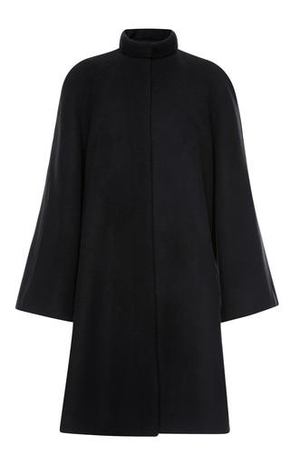 Medium zac posen black wool coating coat 2