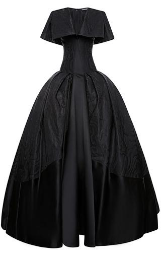 Medium zac posen black taffeta jacquard gown
