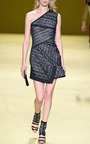 One Shoulder Dress With Asymmetrical Front Pleat by J. MENDEL for Preorder on Moda Operandi