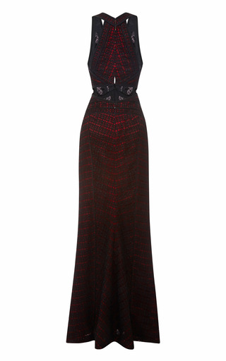 V Neck Gown by J. MENDEL for Preorder on Moda Operandi