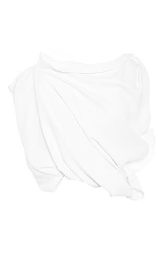 Medium ellery white buttercup drape crop top