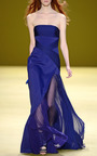 Strapless Gown With Draped Chiffon Bodice by J. MENDEL for Preorder on Moda Operandi