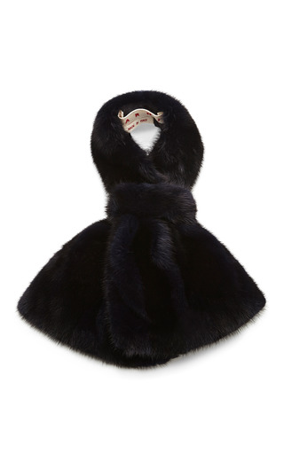 Medium marni blue mink fur collar