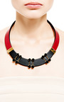 Crystal Embellished Leather Necklace by MARNI Now Available on Moda Operandi
