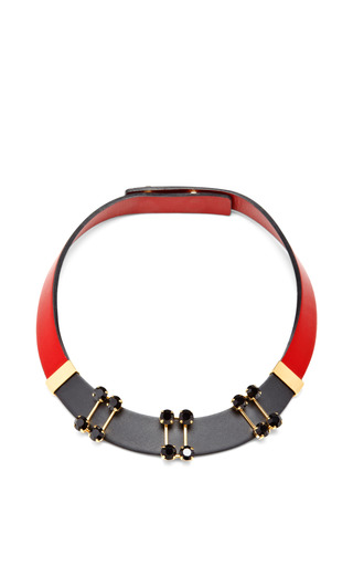 Medium marni red leather necklace