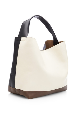 Tri Tone Oversized Leather Tote by MARNI Now Available on Moda Operandi