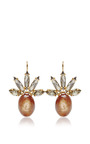 Crystal And Horn Drop Earrings by MARNI Now Available on Moda Operandi