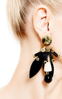 Resin And Crystal Earrings by MARNI Now Available on Moda Operandi