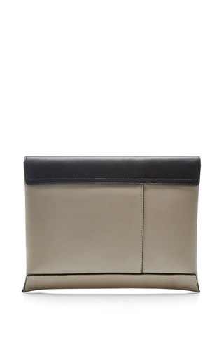 Two Tone Leather Clutch by MARNI Now Available on Moda Operandi