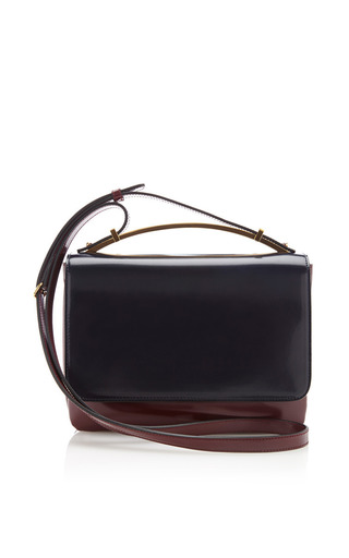 Medium marni black two tone bag with long strap