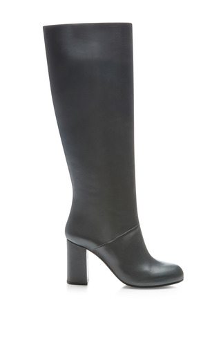 Knee High Leather Boots by MARNI Now Available on Moda Operandi