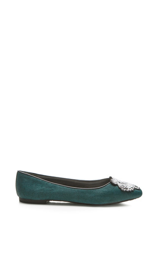 Medium kenzo green pony ballerina with front tiger patch
