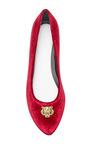 Tiger Medallion Velvet Flats by KENZO Now Available on Moda Operandi