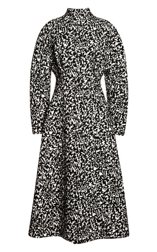 Medium proenza schouler multi boucle jacquard single breasted long coat 2