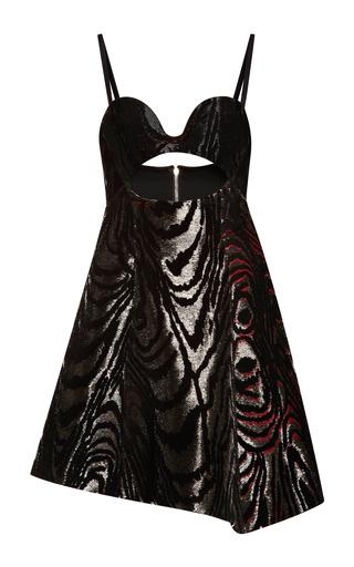 Medium proenza schouler multi flock printed embroidery sleeveless dress