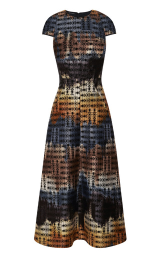 Medium wes gordon multi bargello bell skirt dress