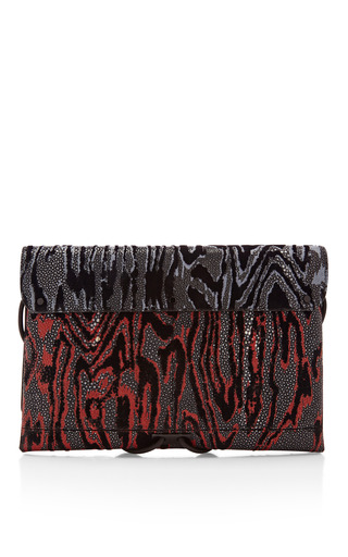 Stingray Flocking Print Large Bungee Clutch by PROENZA SCHOULER for Preorder on Moda Operandi