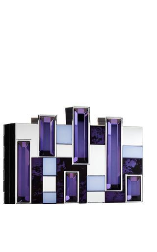 Castellum Clutch In Ink And Violet by RAUWOLF for Preorder on Moda Operandi
