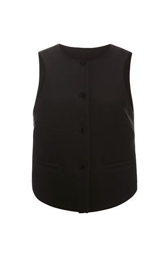 Medium rosie assoulin black heavy cotton crepe vest