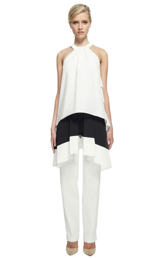 Tiered Petal Top by ROSIE ASSOULIN for Preorder on Moda Operandi