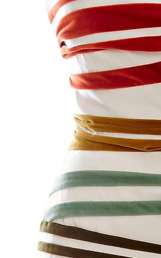 Rainbow Bandeau Gown by ROSIE ASSOULIN for Preorder on Moda Operandi