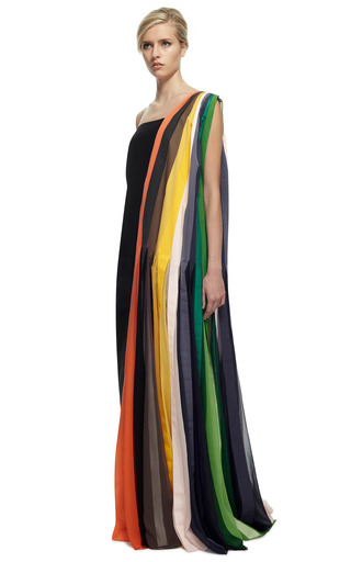 Hand Painted Drape Dress by ROSIE ASSOULIN for Preorder on Moda Operandi