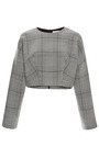 Prince Of Wales Check Sweatshirt by ROSIE ASSOULIN for Preorder on Moda Operandi