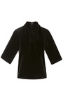 Cotton Velvet Ascot Tee by ROSIE ASSOULIN for Preorder on Moda Operandi