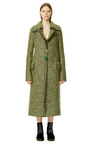 Light Olive Melange Technical Compact Mohair Double Breasted Coat by CALVIN KLEIN COLLECTION for Preorder on Moda Operandi