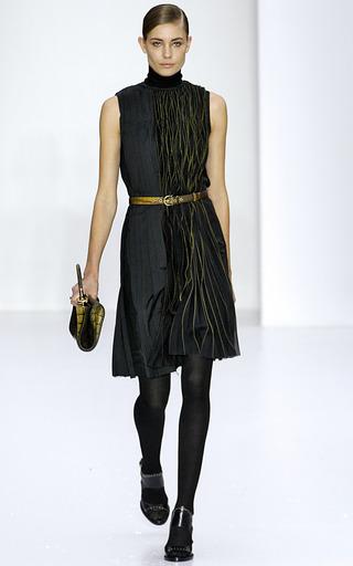 Narny Black Leather Heel by SALVATORE FERRAGAMO for Preorder on Moda Operandi