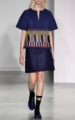 A Line Side Laced Mini Skirt by SUNO for Preorder on Moda Operandi