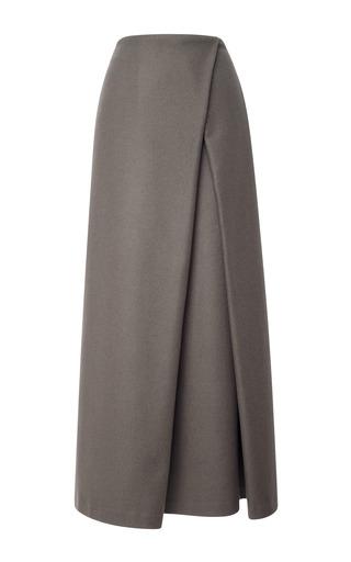 Medium suno dark grey wrap pleat maxi skirt