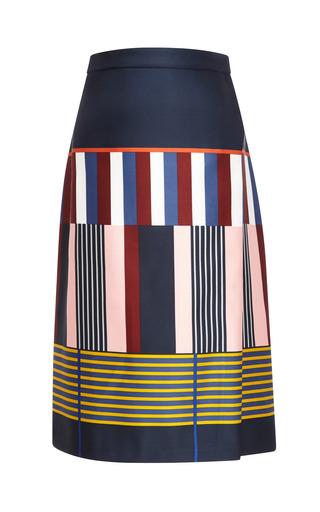 Medium suno print midi asymmetrical wrap skirt 2