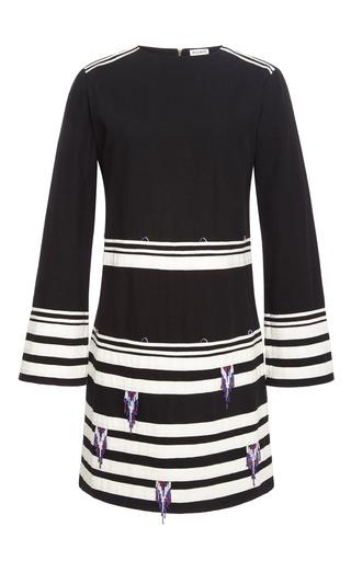 Medium suno stripe long sleeve dress