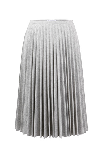 Medium j w anderson dark grey light grey ten pleat skirt