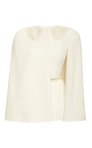 Medium thom browne gold cape jacket with cashmere gold thread